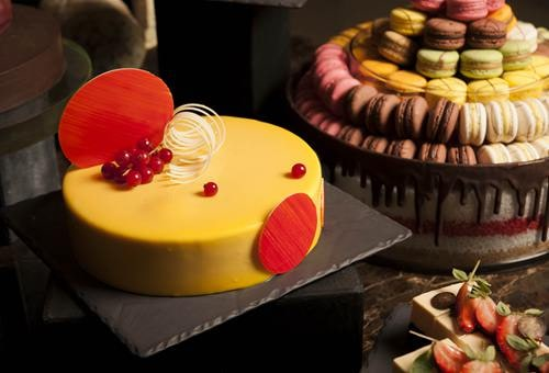 The Club - Cheese and Chocolate Bar, Passion Fruit White Chocolate Mousse Cake