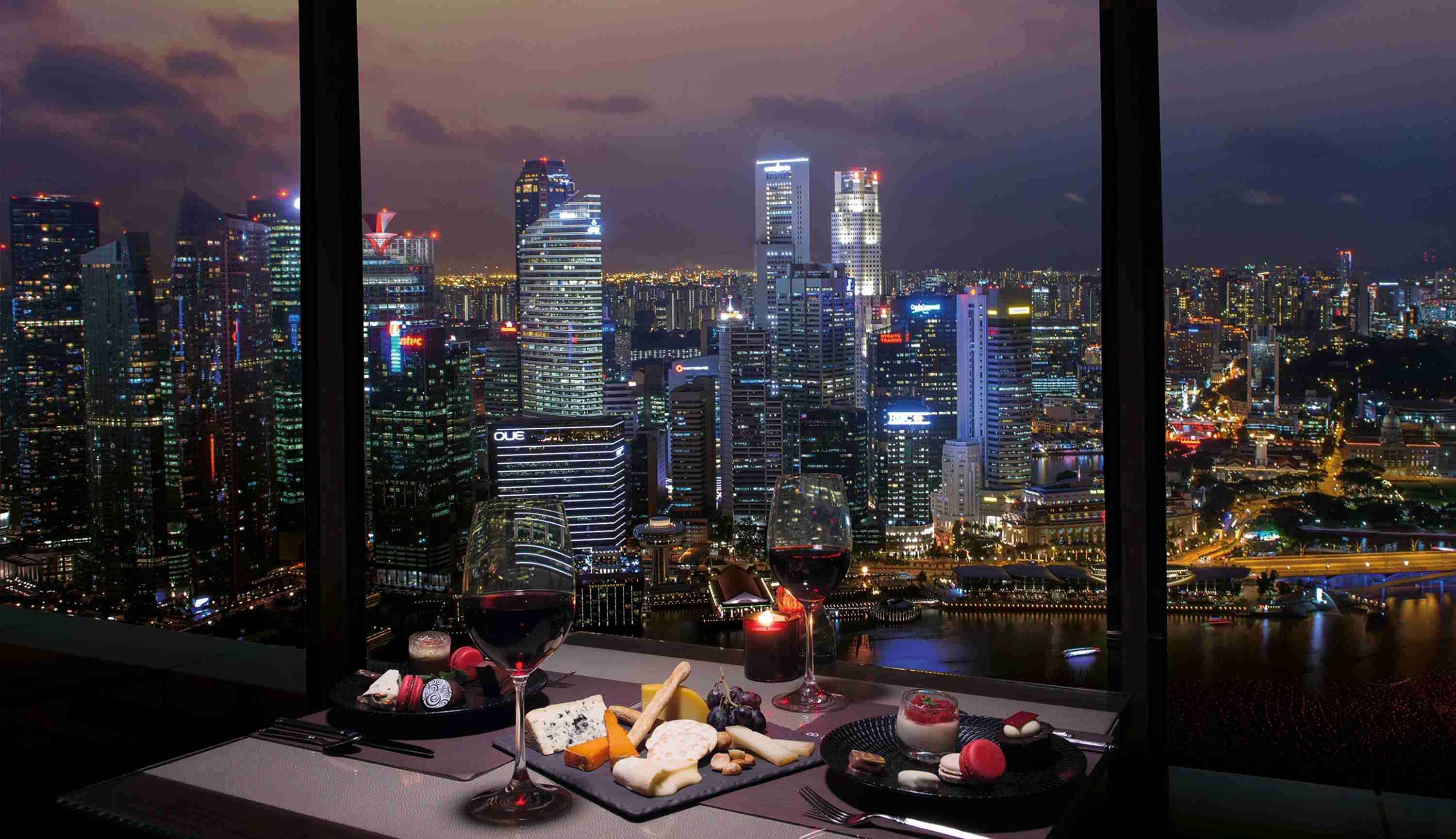 Club55 – Cheese and Chocolate buffet with Night View