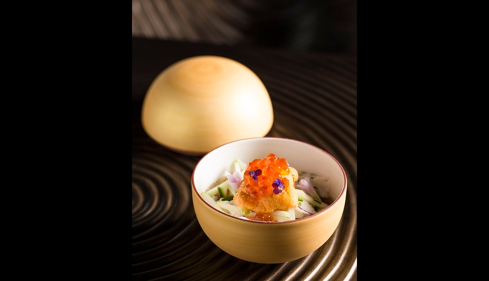 Alaskan King Crab with Dashi Jelly