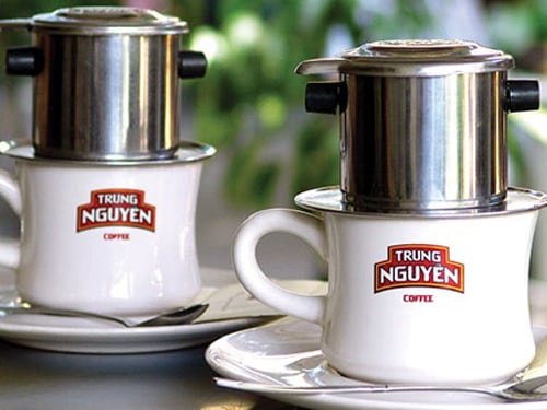Handmade Vietnamese Coffee at Trung Nguyen at Marina Bay Sands