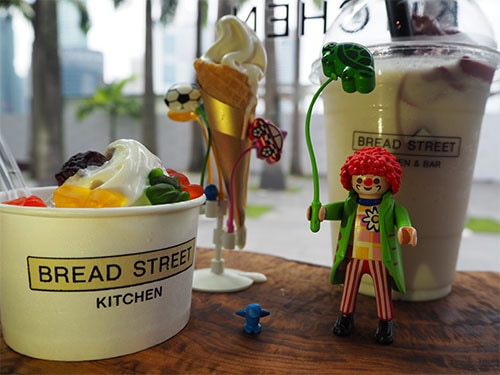 Ice cream at Bread Street Kitchen at Marina Bay Sands