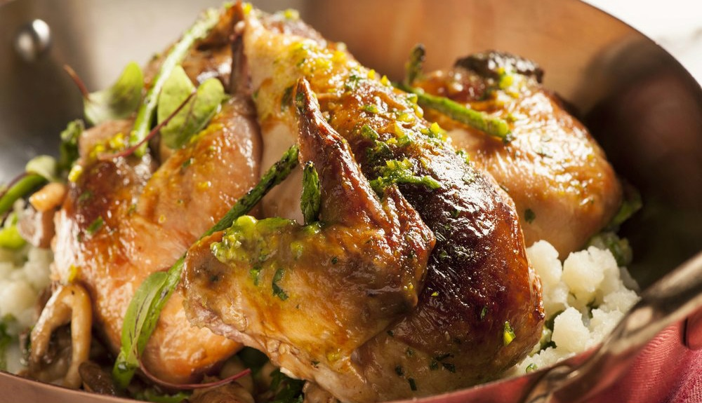 Herb Roasted Organic Chicken for Two