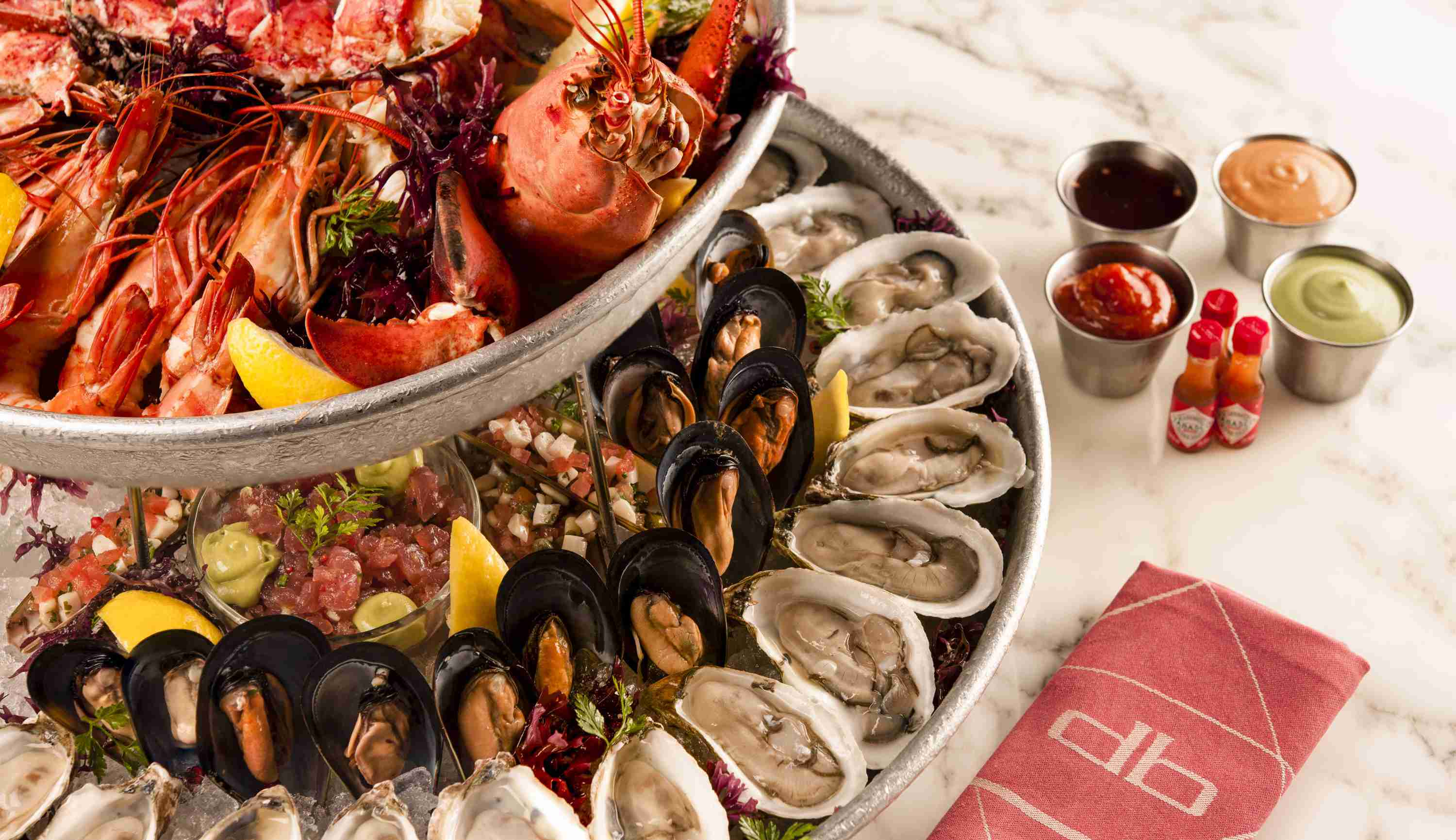 db Signature Seafood Platter at db Bistro and Oyster Bar