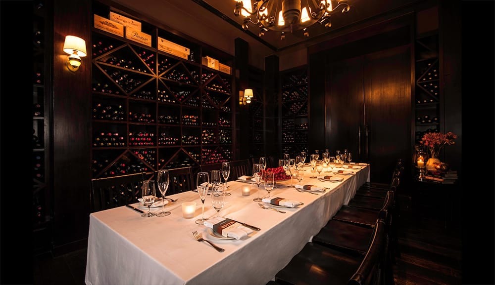 Osteria Mozza's private dining room, perfect for intimate events