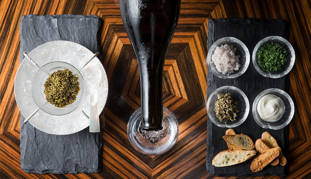 Waku Ghin-Oscietra Caviar, available at The Bar
