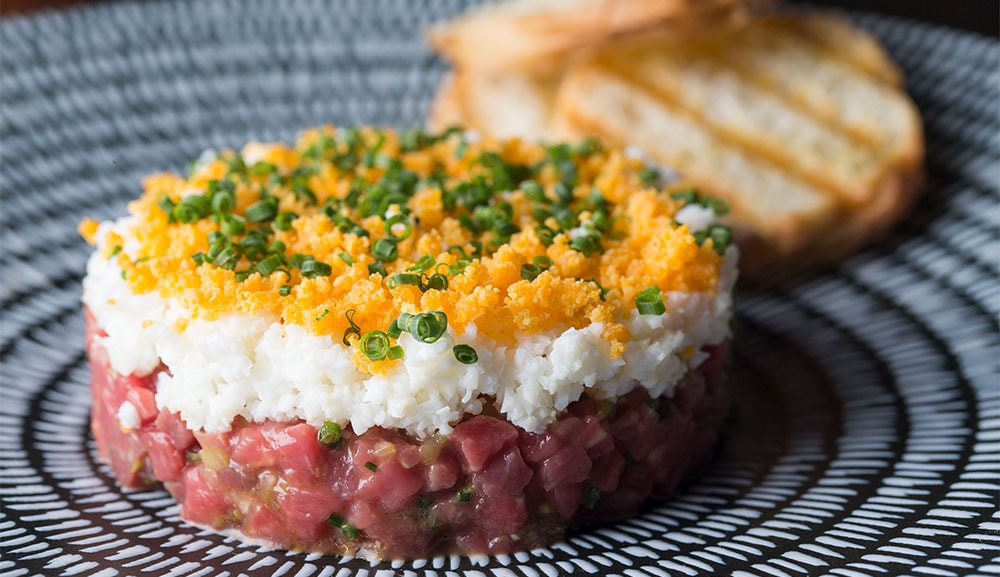Waku Ghin-Tasmanian Cape Grim Beef Tartare, available at The Bar