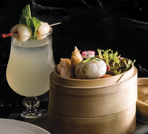 Lai Lai Cha Cocktail and Dim Sum Set at Yú Champagne Bar