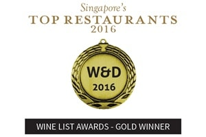 Wine List Awards - Gold Winner