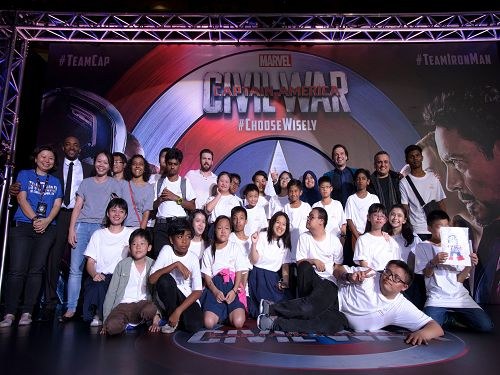 Sands for Singapore Beneficiaries meet Marvel Stars