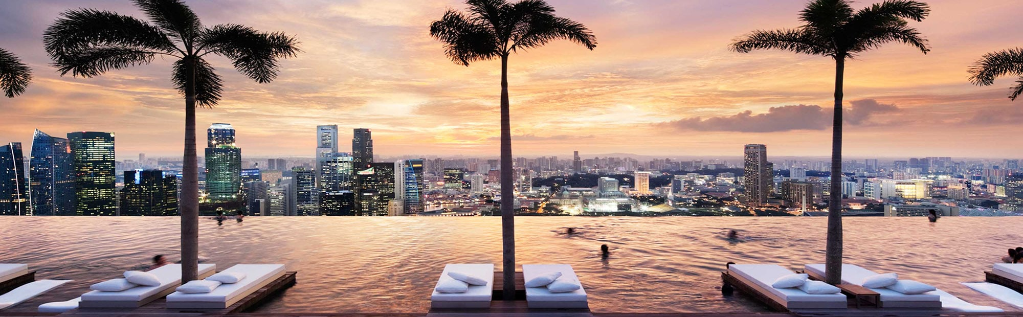 Skypool of Marina Bay Sands Hotel Singapore in Marina Bay Area