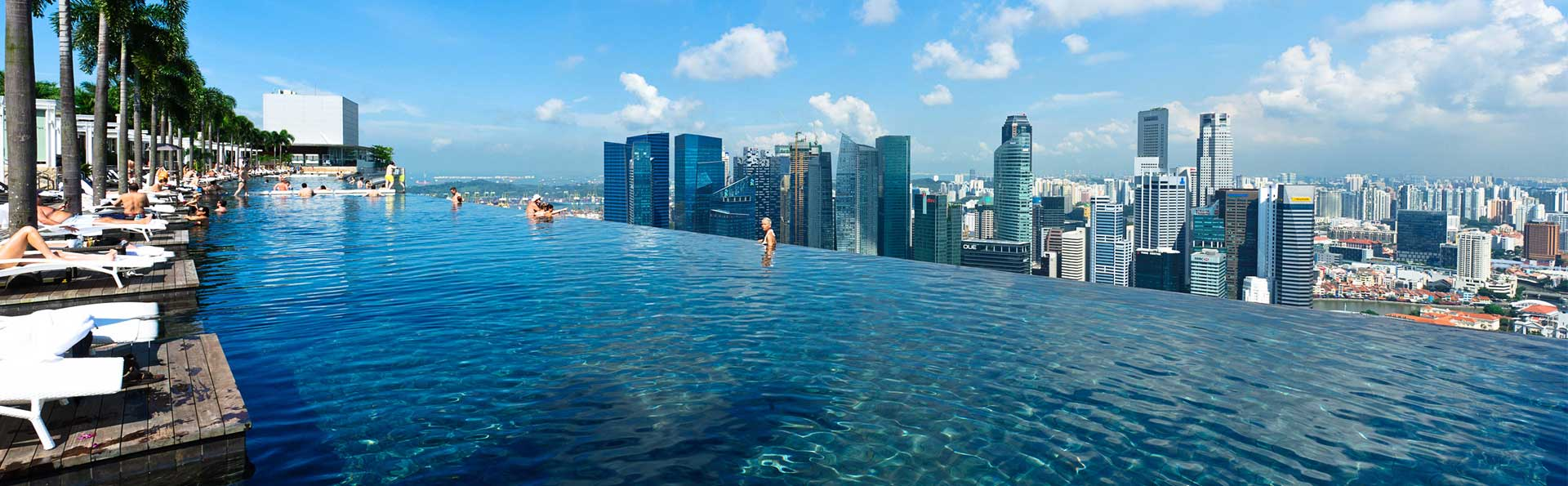 Marina bay sands how to get to the pool