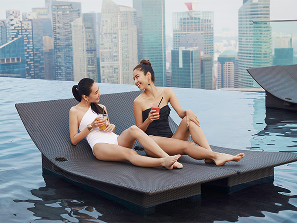 Infinity Pool in the Marina Bay Sands