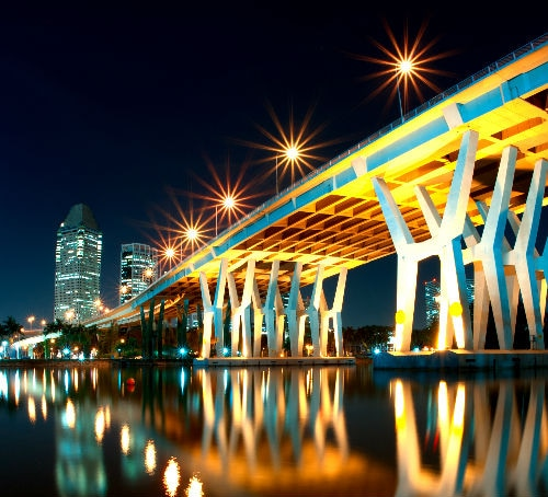 Benjamin Sheares Bridge Singapore