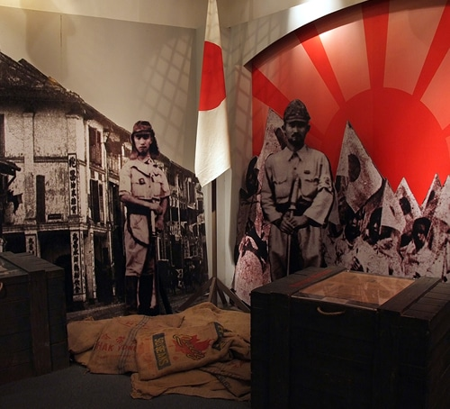 Japanese occupation of Singapore - museum exhibition