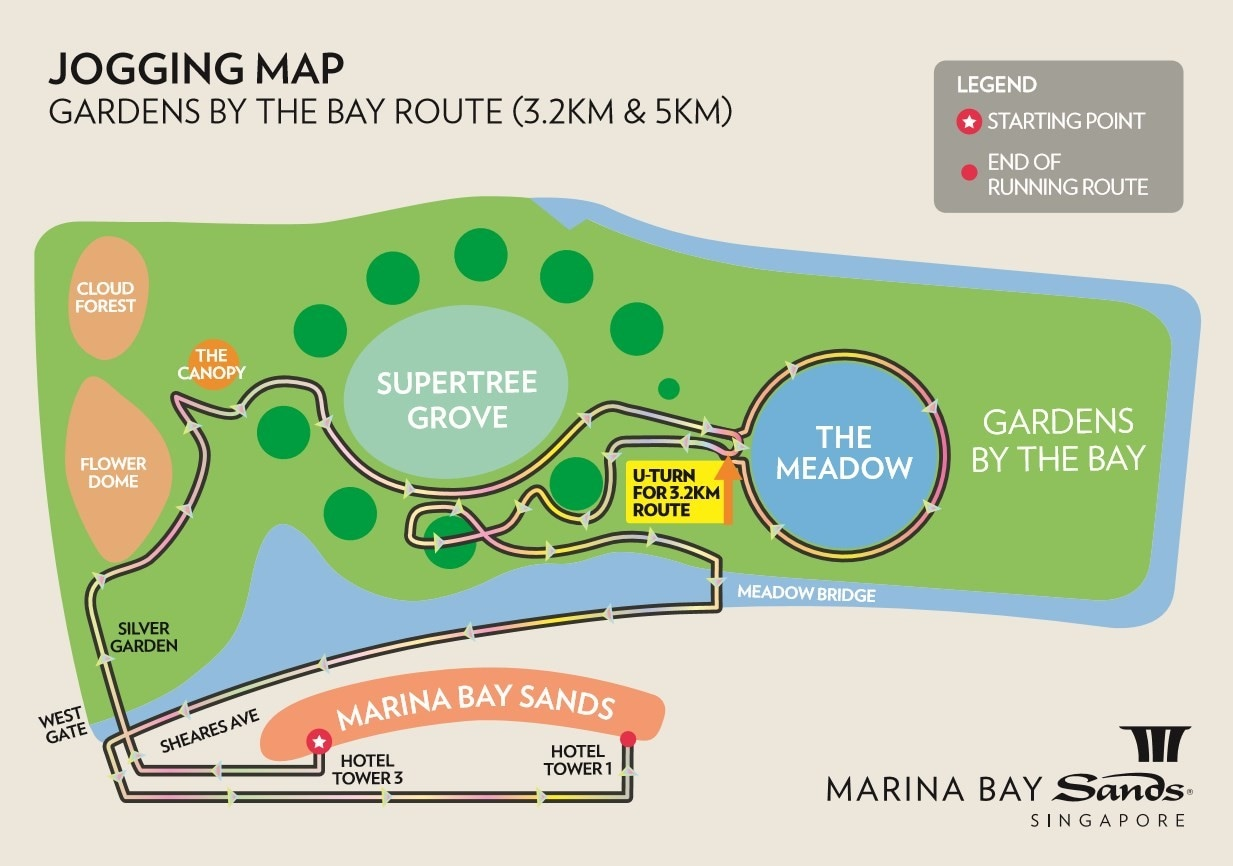 Jog Around Marina Bay Singapore Sands Start Stop Wiring Diagram Route 2 Gardens By The