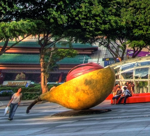 Nutmeg and Mace sculpture in Singapore