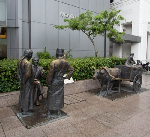 River Merchants - The People of the River statue series in Singapore
