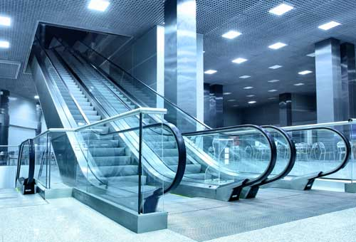 Underground Escalators in Singapore
