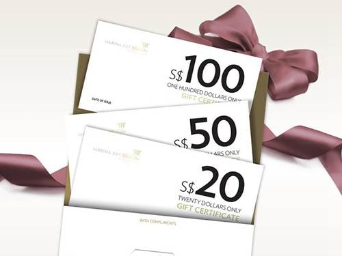 Marina Bay Sands Gift Certificates