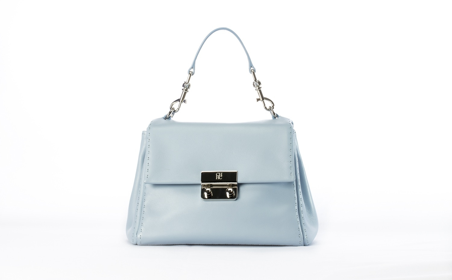 CH Carolina Herrera: Petit Baret Bag in Baby Blue