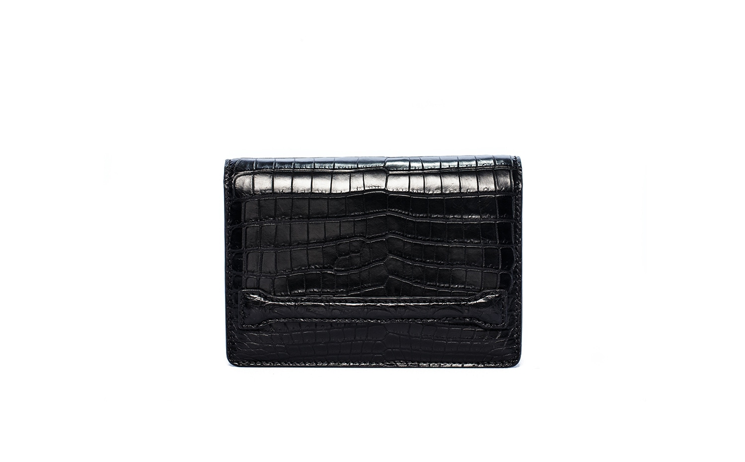 Moreschi : Black Crocodylus Niloticus Clutch Bag