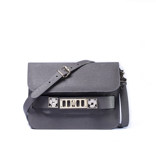 Proenza Schouler: PS11 in Heather Grey - Mini Classic