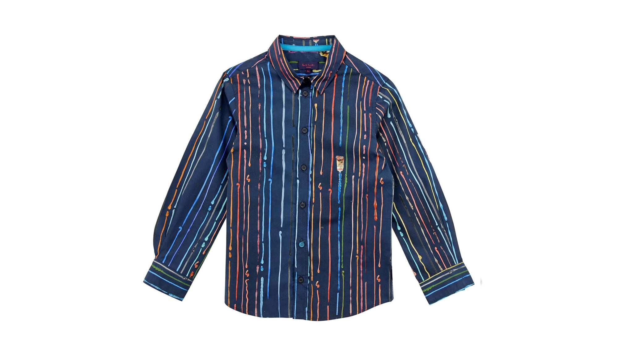 Paul Smith Junior Paint Stripe Print Shirt