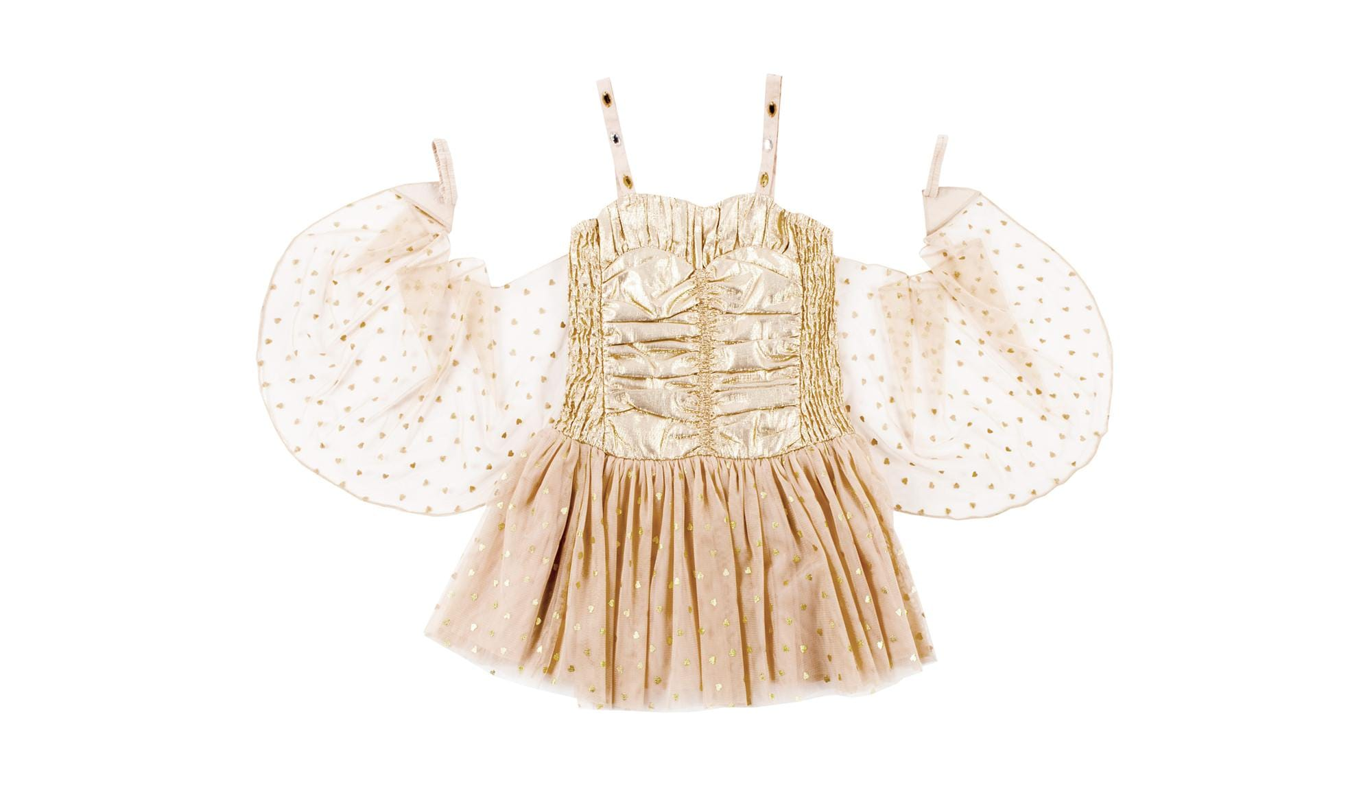 Stella McCartney Kids Gold Party Dress