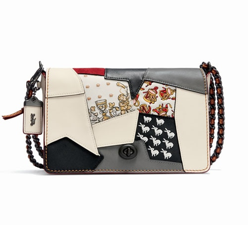 Front Row Fashion Week - Embellished Patchwork Dinky 24 from Coach