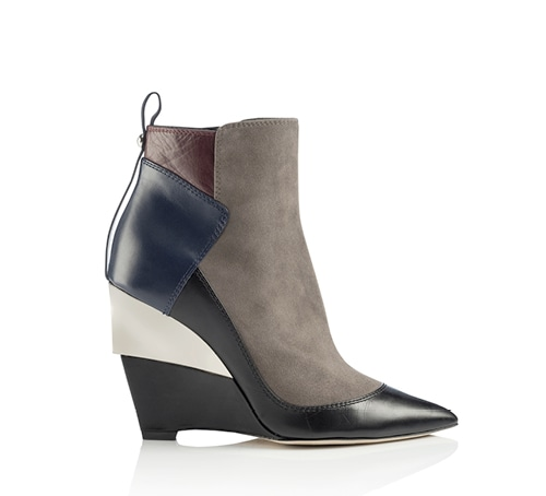 Damsen leather and suede patchwork boots from Jimmy Choo