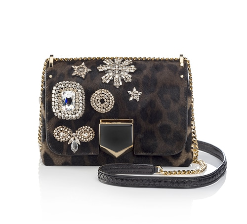 Lockett Petite bag in ponyhair and elaphe skin from Jimmy Choo