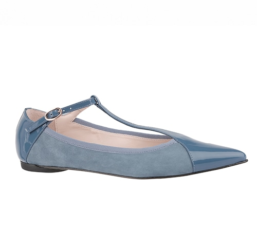 Suede and leather flats from Repetto