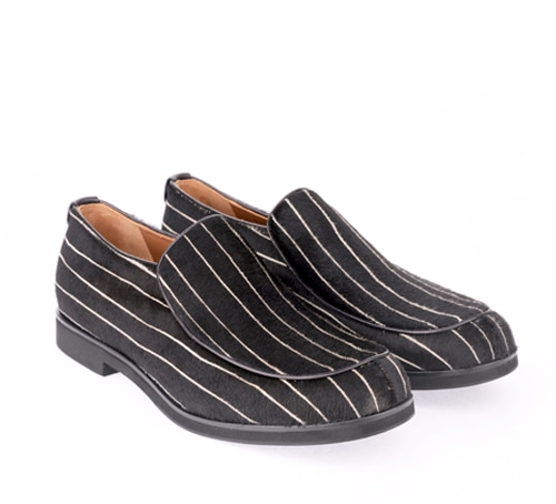 Giorgio Armani Women Loafers in Stripe Pony