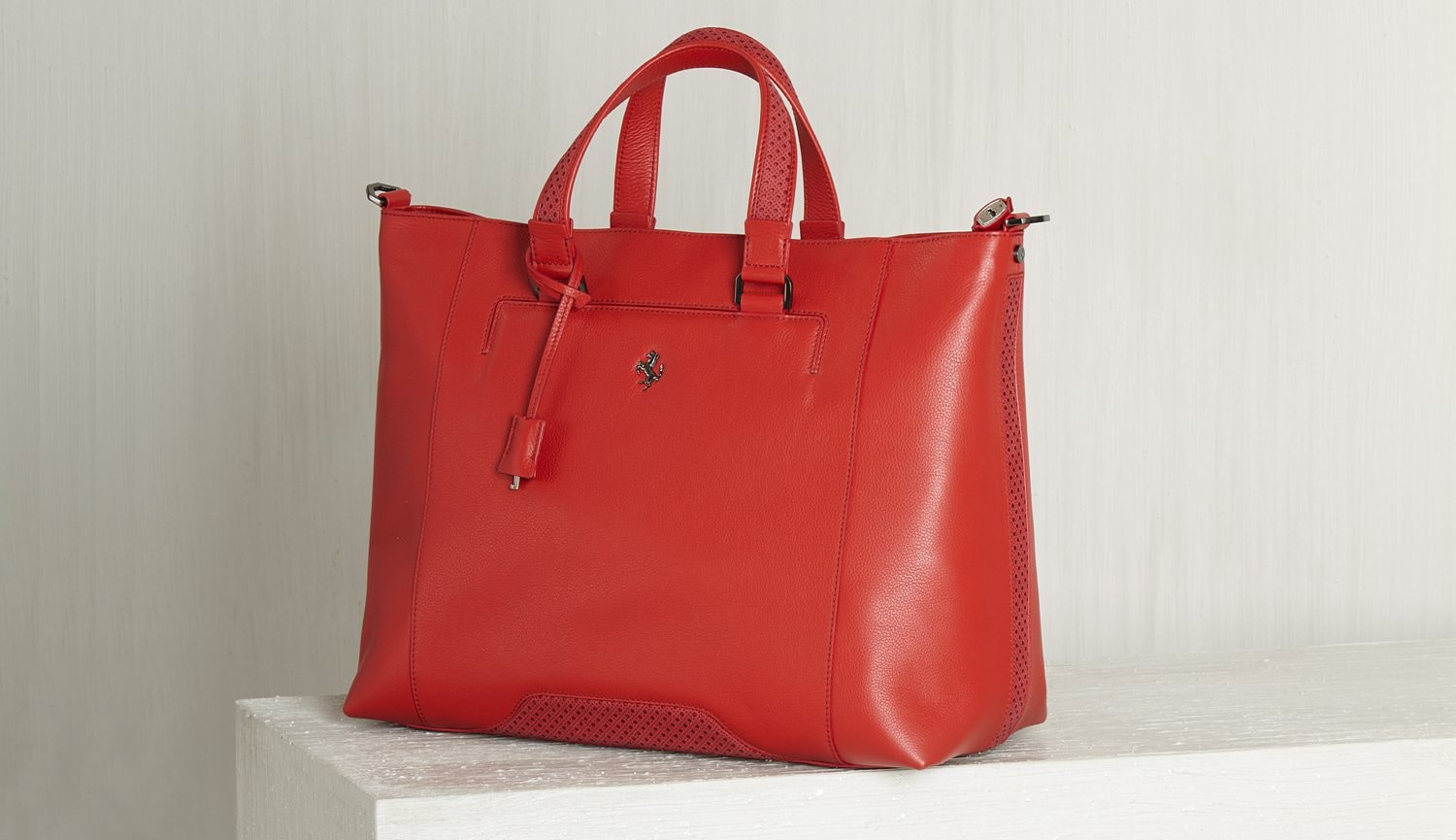 Ferrari Store Collection Women Handbag Red