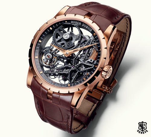 Excalibur Automatic Skeleton in pink gold